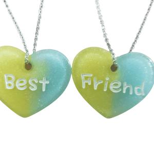 COLLAR BEST FRIENDS AMARILLO/AZUL