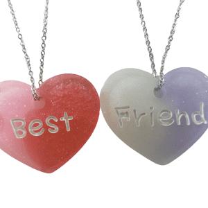 COLLAR BEST FRIENDS ROSA/ROJO